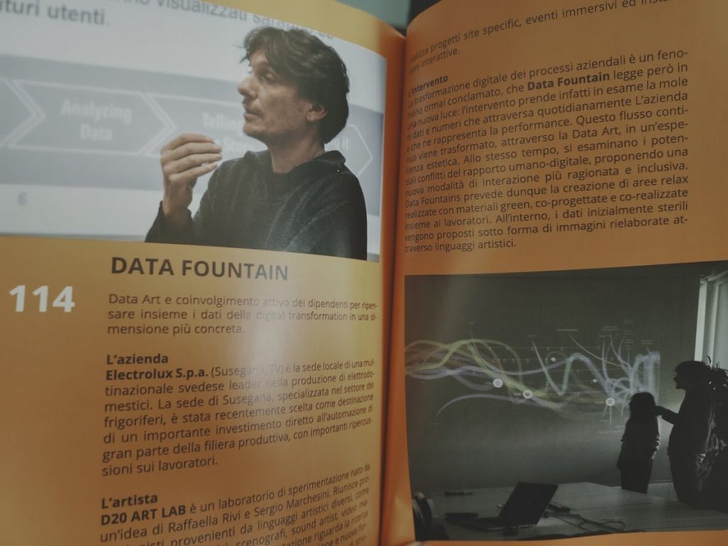 Data Fountains, a data art project for Electrolux